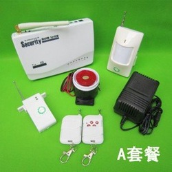 Free Shipping Wireless GSM Home Security Alarm System PIR Door Sensor(China (Mainland))