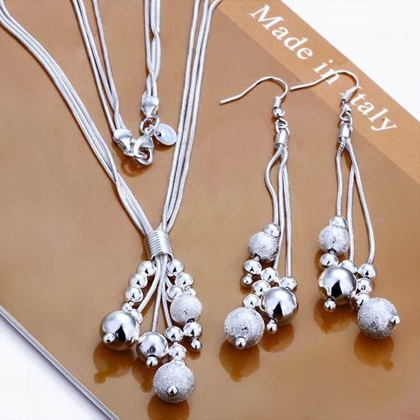 High quality silver set wholesale fashion jewelry wholesale ball jpg