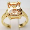 Classic Lady's Topaz yellow plated gold ring size,6,7,8,9,10,11
