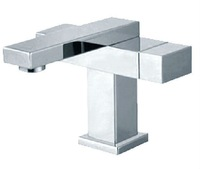 Free shipping Excellence Square shape Brass Basin Faucet Mixer Tap Thicken Chrome  02411