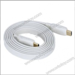 1.5M 1080P HDMI V1.4 Male to Male Gold Plated Plug Flat Connection Cable - White 11866(China (Mainland))