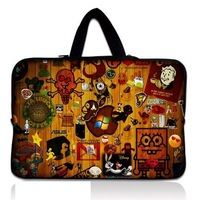 "Multi-element Style Nice 17"" 17.3 17.4 Laptop Bag Notebook Case Sleeve Pouch Cover Handle Widescreen"