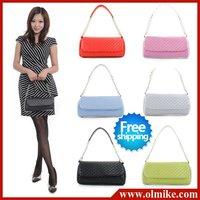 free shipping 2010 lady New Fashion Designer multicolor chain charming tide models Shoulder Messenger PU bag handbag BB001