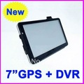 HOT Sale! 2012 latest style 7 inch car GPS navigation, DVR+Bluetooth + AV IN + FM, DDR 128 Win CE 6.0 Free shipping