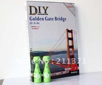 3D jigsaw PUZZLE American Golden Gate Bridge 20 pcs 100% compelte DIY children gift