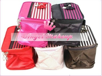 Wholesale New Arrival cosmetics beauty make up fashion 5 colors bag(15 pcs/lot) free shipping