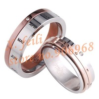 Free shipping  hot  eQute Couple rings  Love calendar ring   Anniversary ring  Jewelry  NEW  fashion  QA