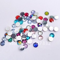 Free Shipping! Wholesale 4mm Multi Colour Mixed colour Acryl Resin Rhinestone 2028 Flat Rhinestone 1440pcs/lot RR0443