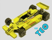[Alice papermodel]Formula 1 F1 car  models 1978 Fittipaldi F8 racing car sedan models