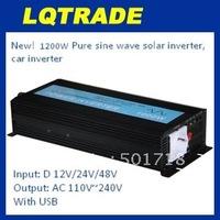 1200W Pure Sine Wave Solar Power Inverter 24V DC Input, 110V/220V AC Output, with USB Model No.: YP-1200S24