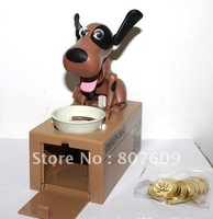 Hot Selling! New Choken Puppy Eating Dog Kids Coin Bank Saving Box  4pcs/lot