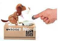 saving box of dog eat dog can save money ends dog savings money save tank toys fun toy for kids  box 24pcs/lot hot sale
