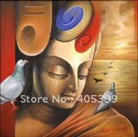 Free Shipping  Newest  Religious  Painting   Buddha  Oil  Painting on Canvas   ytfx017