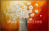Free Shipping !!! Thick Texture Flower Oil Painting On Canvas  ytdhhh014
