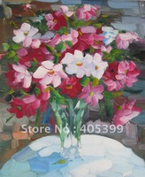 Free Shipping !!! Thick Texture Flower Oil Painting On Canvas ytdhhh043