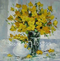 Free Shipping !!! Thick Texture Flower Oil Painting On Canvas ytdhhh049