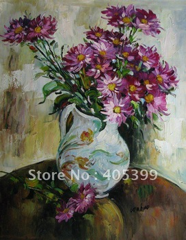 Free Shipping !!! Thick Texture Flower Oil Painting On Canvas Sunflowers  ytdhhh095
