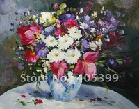 Free Shipping !!! Thick Texture Flower Oil Painting On Canvas  ytdhhh096