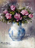 Free Shipping !!! Thick Texture Modern Flower Oil Painting On Canvas  ytdhhh102