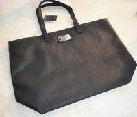 HB553  Elegant Classic Solid Black PU tote handbag shopping bag Drop shipping  Wholesale Free Shipping