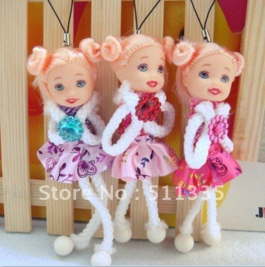 Wholesale 30pcs dress Dolls Baby Dolls As Wedding Supplies, Cell Phone Charms,Room Decorations free shipping(China (Mainland))