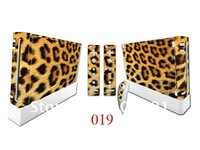 For Nintendo Wii skin, for Nintendo Wii sticker, color cover for Wii,10pcs/design 100pcs/order, accept mix designs, wholesale