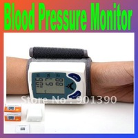 New Wrist Cuff LCD Digital Blood Pressure Pulse Monitor Heart Beat Meter, with LCD Display and 60 memories Free Shipping