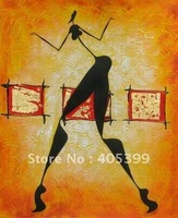 Free Shipping !! African Art ,100% Hand Painted Modern Oil Painting on Canvas  ytrw002