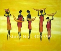 Free Shipping !! African Art ,100% Hand Painted Modern Oil Painting on Canvas  ytrw015