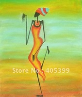 Free Shipping !! African Art ,100% Hand Painted Modern Oil Painting on Canvas  ytrw021