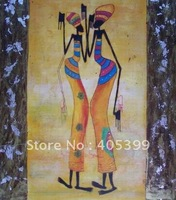 Free Shipping !! African Art ,100% Hand Painted Modern Oil Painting on Canvas  ytrw022
