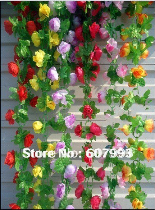artificial magic gourd fabric vine, artificial silk flowers ivy ...