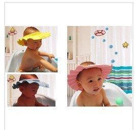 Shampoo Hat Protector for eyes Enjoy Baby Bathing Shower Cap micar 50pcs New Flexible Baby(China (Mainland))