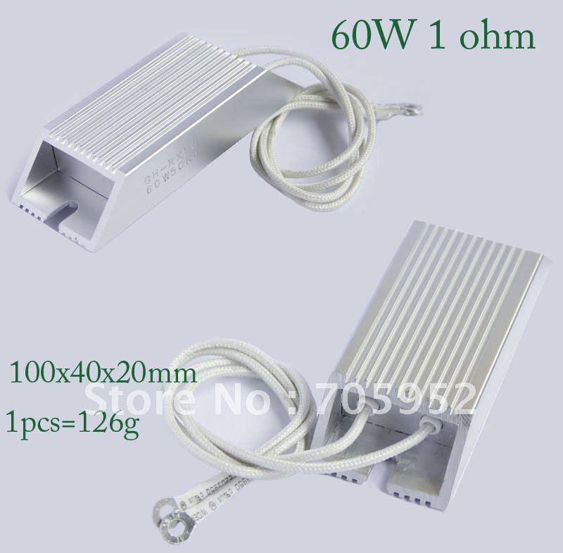 Резистор 60W 1 ohm Aluminum Housed Wire Wound Braking Resistor +/- 5