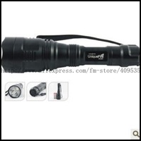 Free Shipping, Super Long Shoting UniqueFire HS-801 CREE R2 LED 300 LM 3 mode LED Flashlight torch