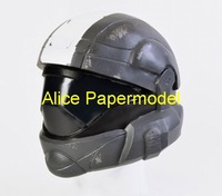 [Alice papermodel] halo Spartan ODST Rookie Helmet Gas Bio masks could wear on head Pistol autorifle reach covenant models