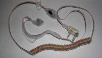2 way radio accessories transparent flexible cable earphone for TG-UV UV-5R TH-UVF1 KG-UVD1P RADIOS