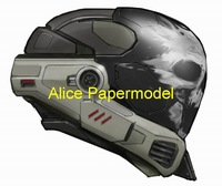[Alice papermodel]halo Spartan Emile Helmet Gas Bio masks could wear on head Pistol autorifle reach covenant models