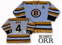 Boston  Bruins #4 Bobby Orr  White  Color  Throwback hockey jerseys  CCM jerseys mix order