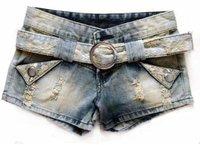 Женские шорты 2012 Korean style summer floral ornament shorts denim slim ladies short pant