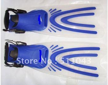 Unique bundle of bond type adjustable snorkeling fins swimming training fins do not hurt the feet