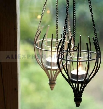 Hanging Wire Lantern for Wedding Decoration Party Stuff Favors Gifts Supplies Free Shipping