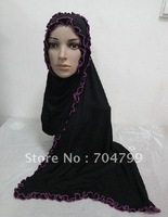 H405 elastic plain jersey muslim long scarf,free shipping,fast delivery,assorted colors