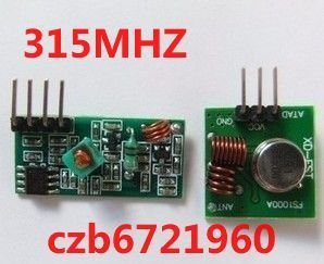 Free shipping,good quality,manufacturer direct sell,315Mhz RF transmitter and receiver link kit for ARM/MCU WL(China (Mainland))