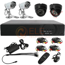 4 CH Channel cctv system IR Weatherproof Surveillance Security DVR IR Night Vision Camera System Kit(China (Mainland))