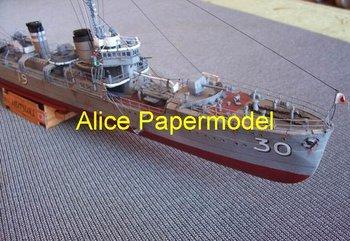 [Alice papermodel]1:150 World War II Japanese destoryer IJN Mutsuki battleship Frigate models