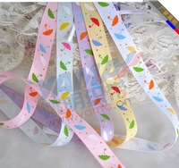 "5/8""  Umbrella Printed Grosgain Ribbon   Craft Ribbon    Customized Printed Grosgrain Ribbon 100yards/lot  negotiable price"