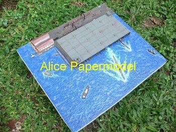 [Alice papermodel]1:700 500 350 German U boat submarine diorama papercraft destoryer battleship heavy cruiser models