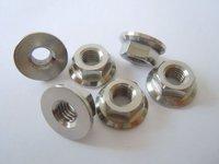 Gr5 titanium flange nut M5-M10