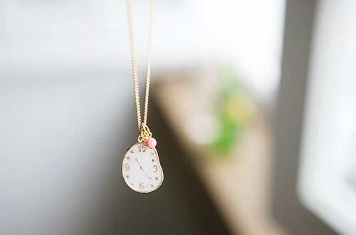 Min.order is $15 (mix order) Free Shipping Yiwu Irregular White Clock Necklace,Popular Watch Star Necklace Promotions N141(China (Mainland))